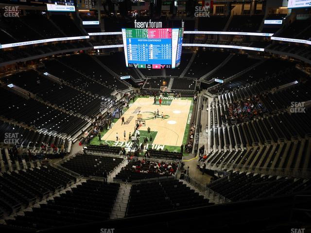 Fiserv Forum Section 214 view