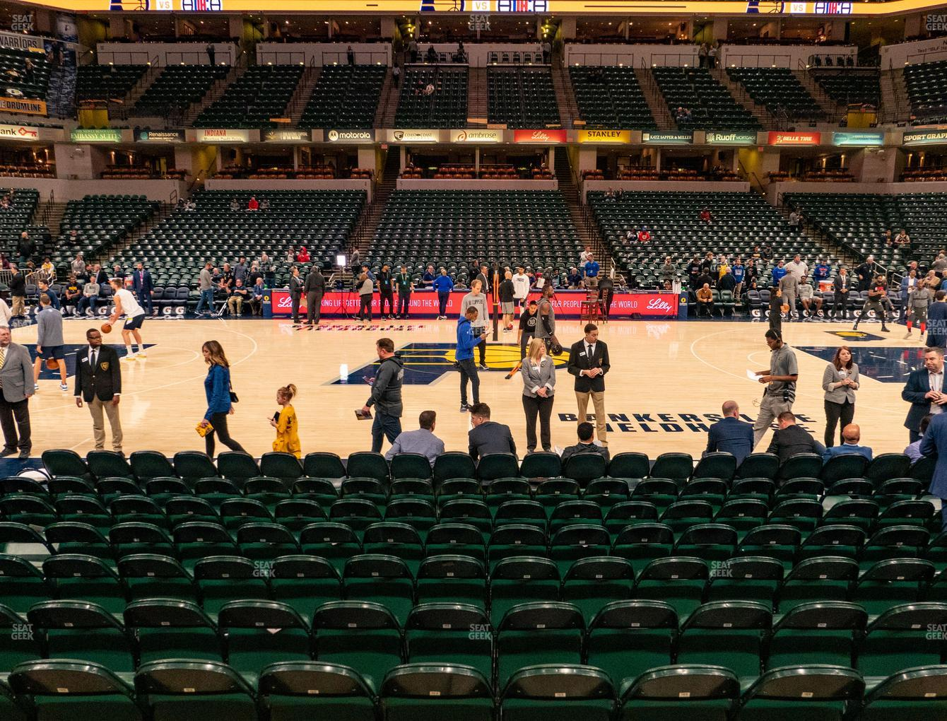 Indiana Pacers at Bankers Life Fieldhouse Section 16 View