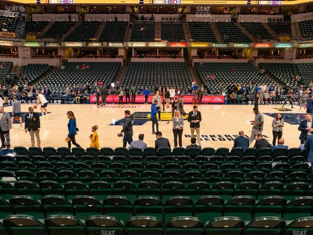 Bankers Life Fieldhouse Section 16 view
