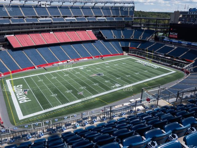 Gillette Stadium Section 336 view