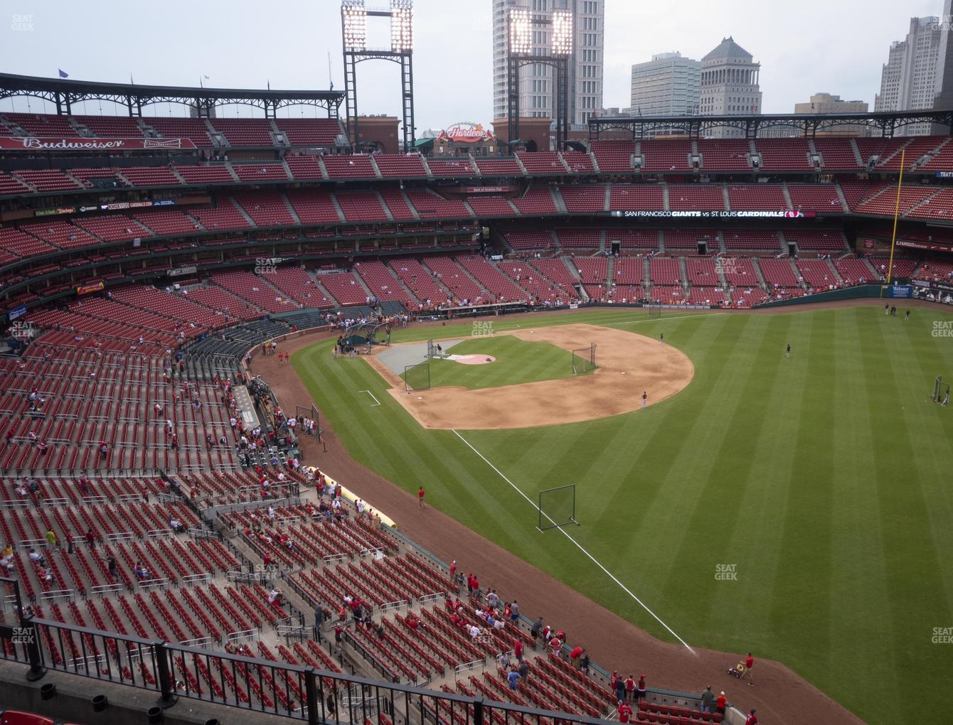 St. Louis Cardinals at Busch Stadium Right Field Pavilion 332 View