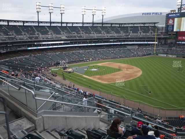 Comerica Park Section 215 view