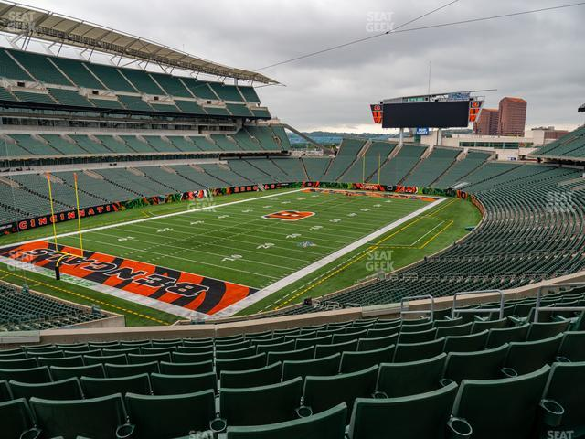 Paul Brown Stadium Section 219 view
