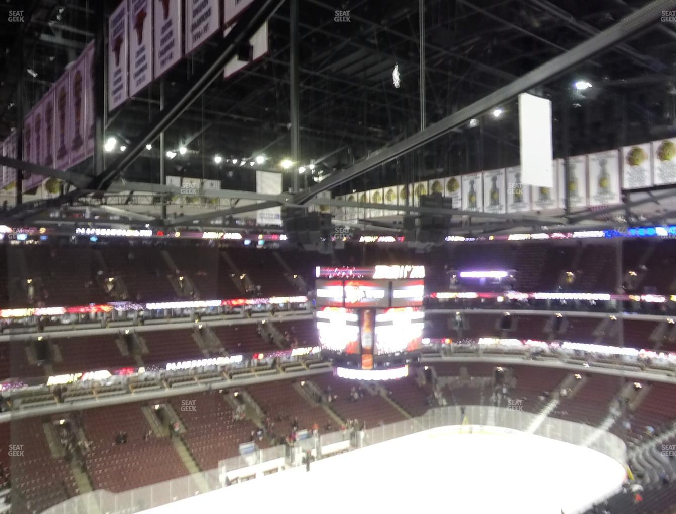 Chicago Blackhawks at United Center Section 321 View