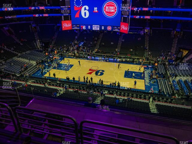 Wells Fargo Center Section 214 view