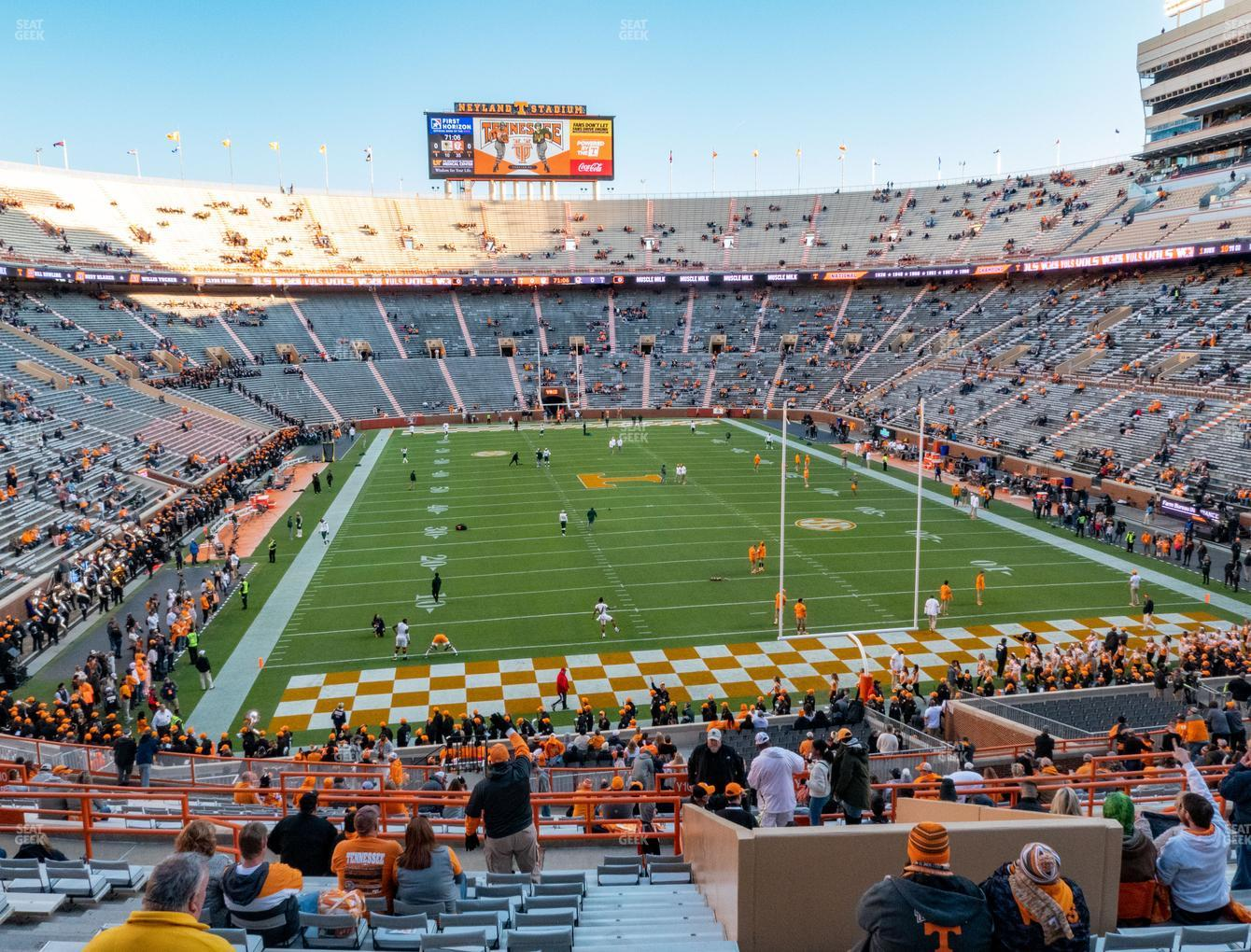 Tennessee Volunteers Football at Neyland Stadium Section Y 9 View