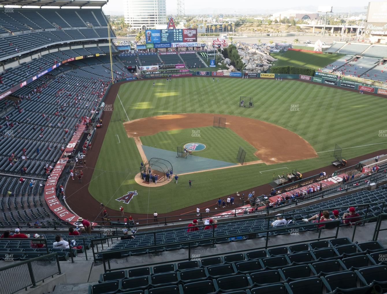 Los Angeles Angels at Angel Stadium of Anaheim Section 524 View