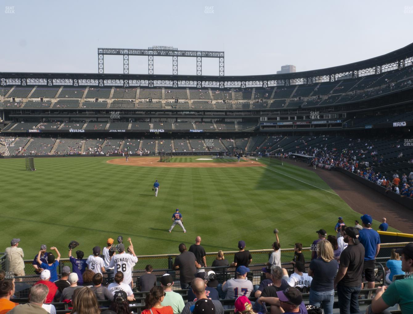 Colorado Rockies at Coors Field Section 152 View