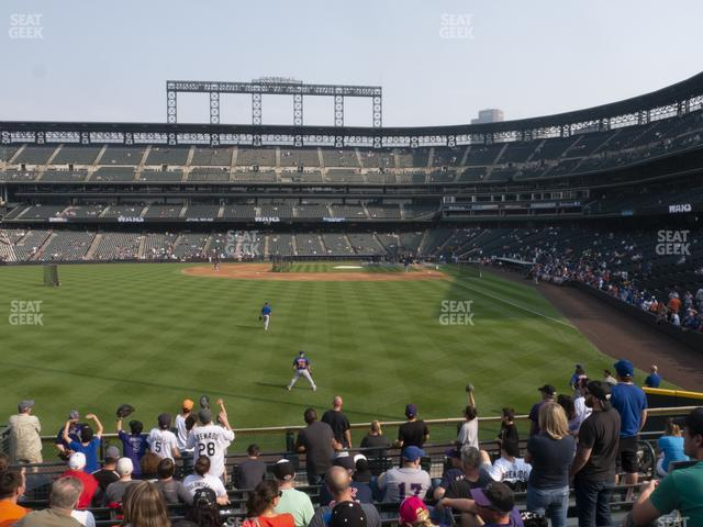 Coors Field Section 152 view