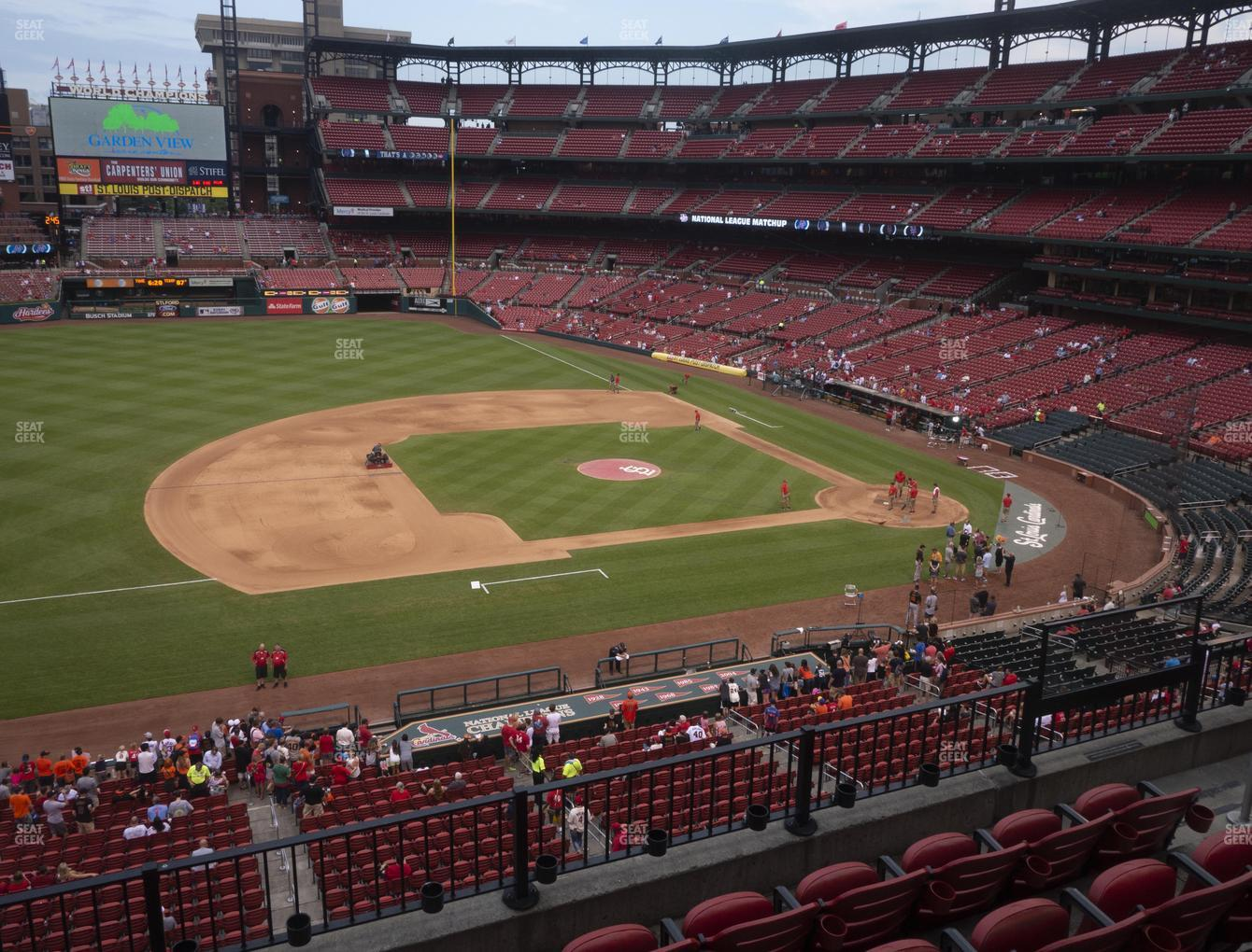 St. Louis Cardinals at Busch Stadium National Car Rental Club 258 View