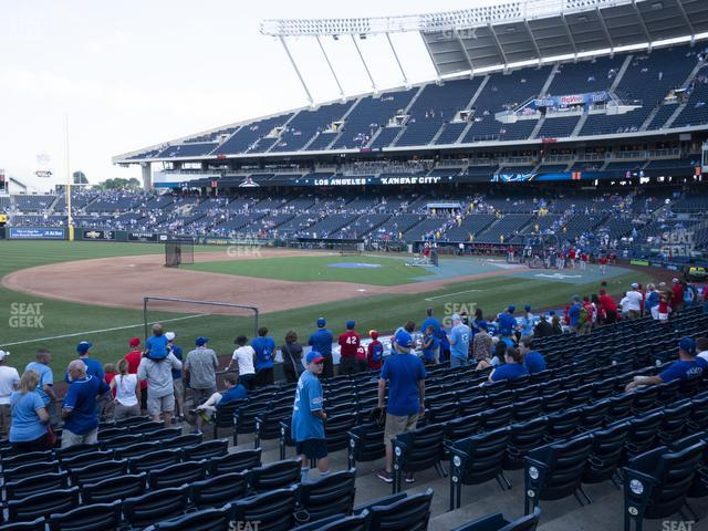 Kauffman Stadium Section 115 view