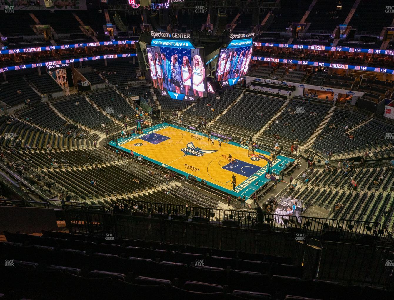 Charlotte Hornets at Spectrum Center Section 222 View