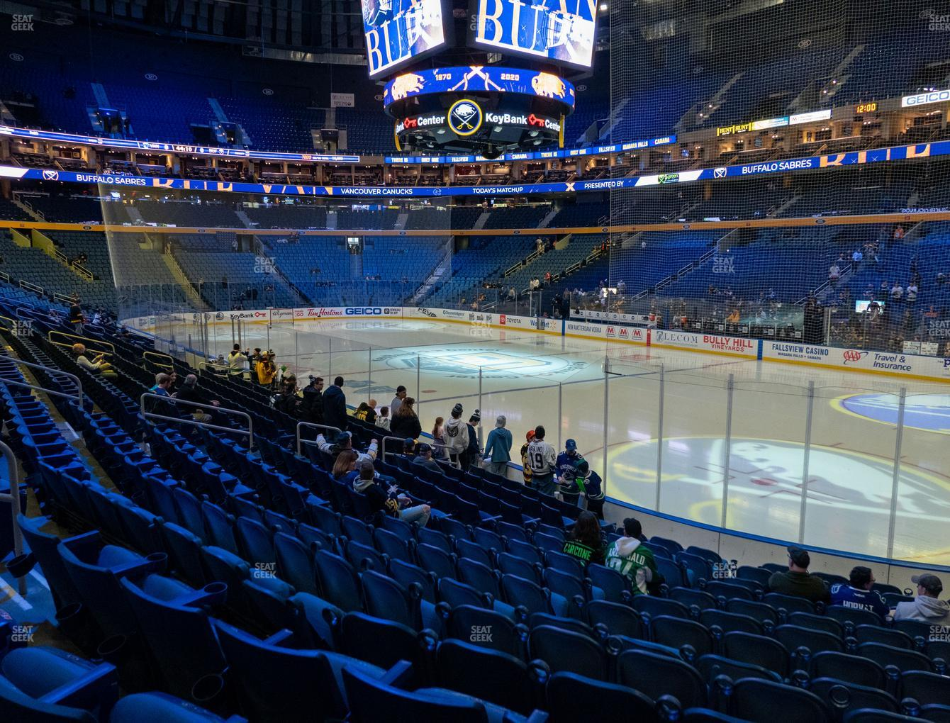 Buffalo Sabres at KeyBank Center Section 114 View