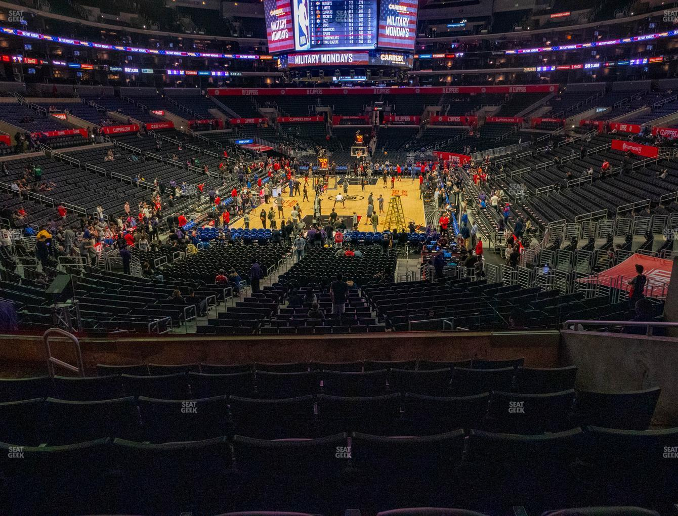 Los Angeles Lakers at Staples Center Section 216 View