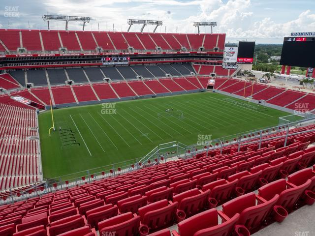 Raymond James Stadium Section 306 view