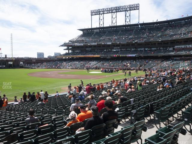 Oracle Park Section 129 view