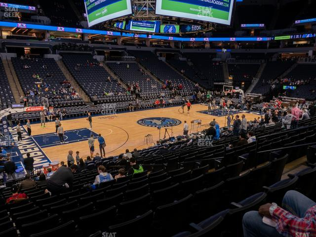 Target Center Section 133 view