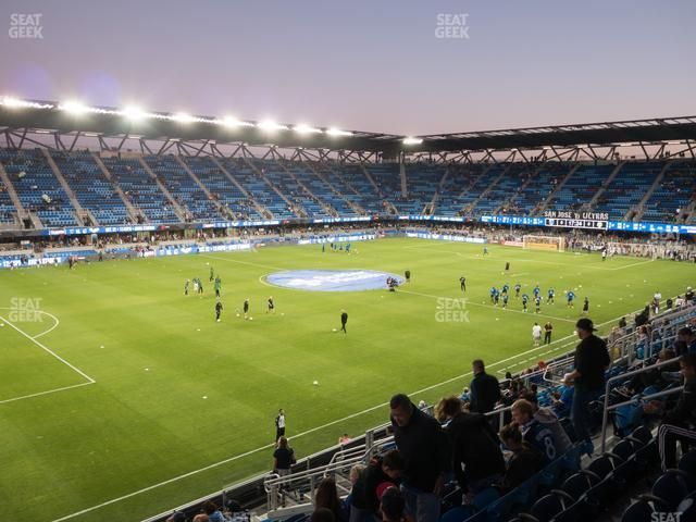 Earthquakes Stadium Section 101 view