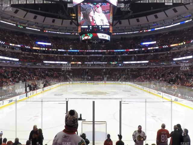 United Center Section 117 view