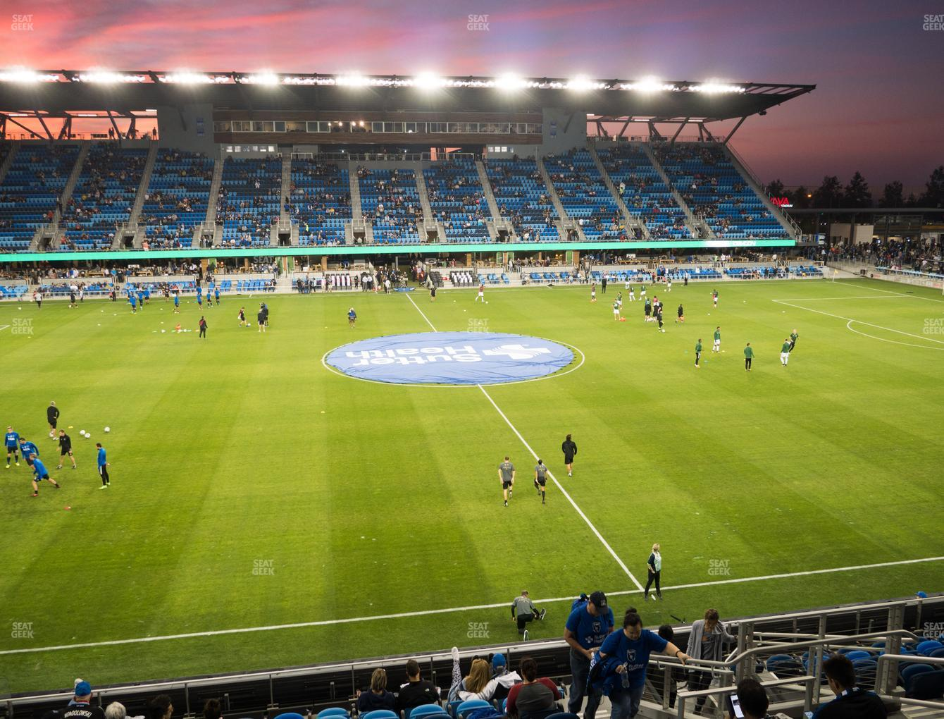 San Jose Earthquakes at Earthquakes Stadium Section 128 View
