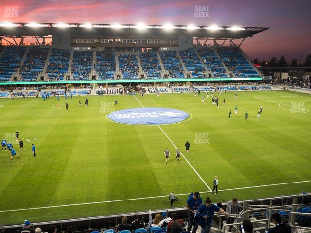 Earthquakes Stadium Section 128 view