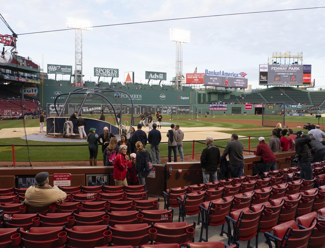 Boston Red Sox at Fenway Park Field Box 39 View