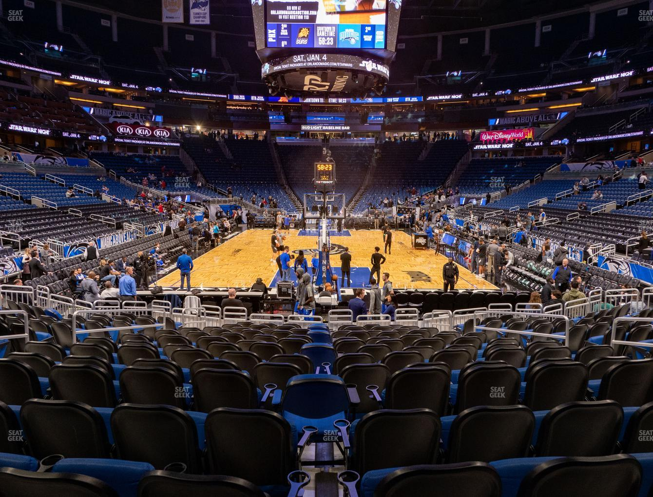 Orlando Magic at Amway Center Section 110 View