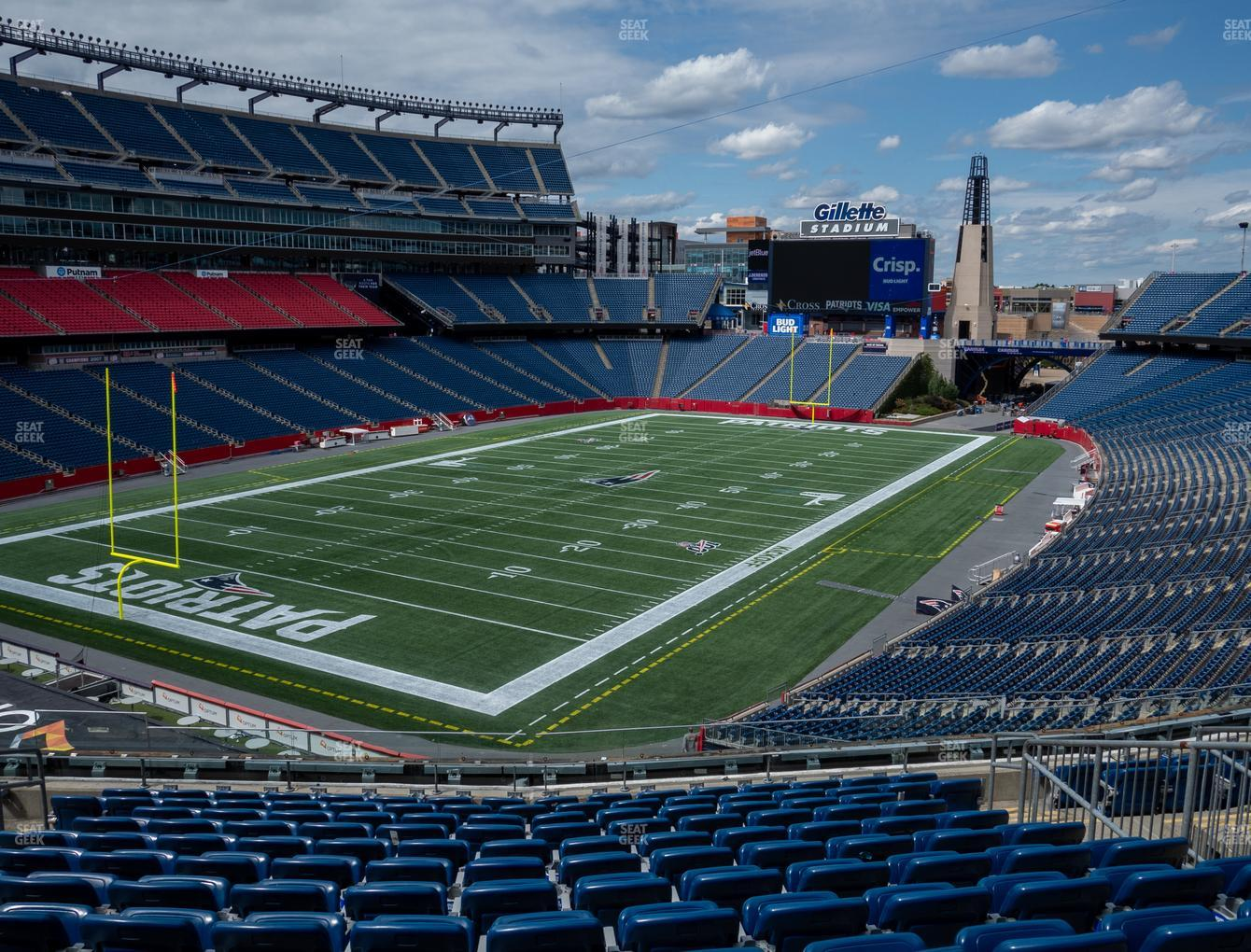 New England Patriots at Gillette Stadium Section 217 View