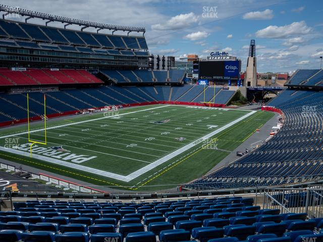 Gillette Stadium Section 217 view