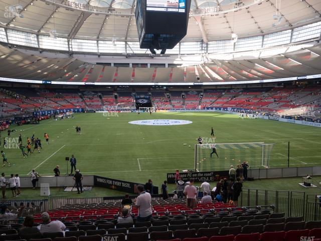 BC Place Stadium Section 201 view