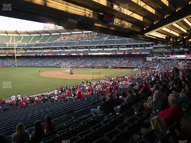 Angel Stadium of Anaheim Section 206 view