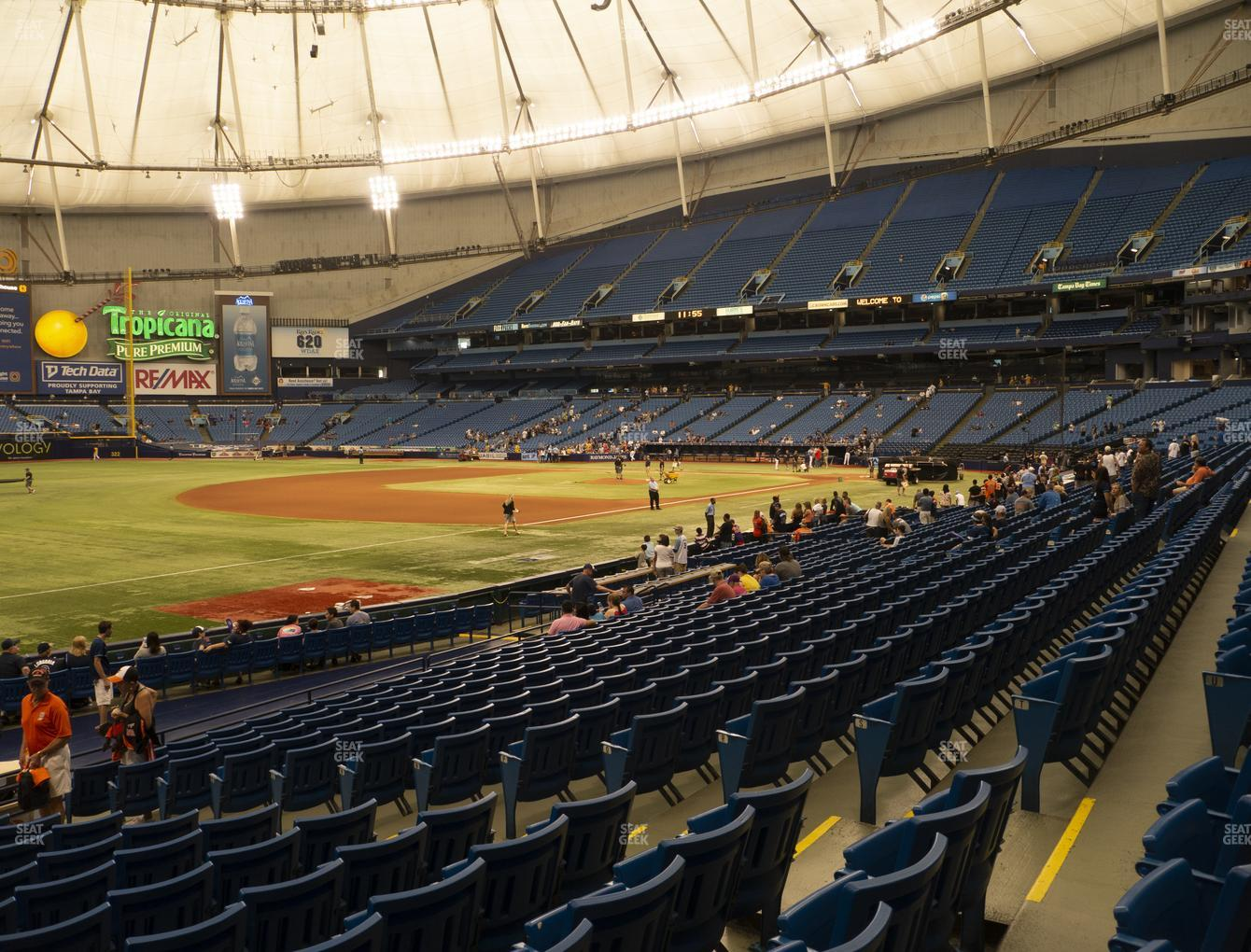 Tampa Bay Rays at Tropicana Field Section 129 View