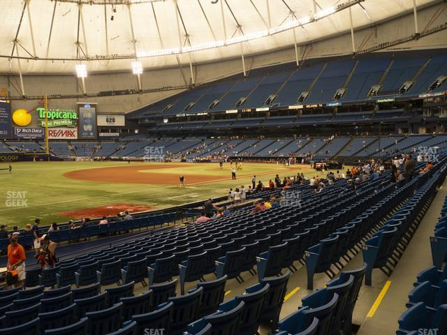 Tropicana Field Section 129 view