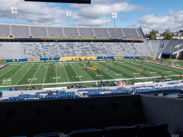 Mountaineer Field at Milan Puskar Stadium Field Box 53 view