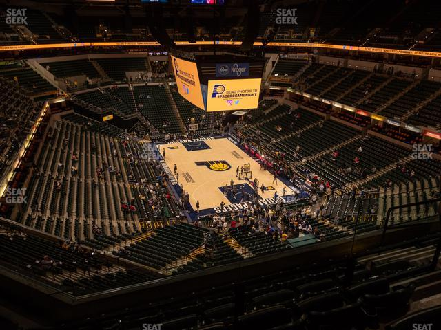 Bankers Life Fieldhouse Section 218 view