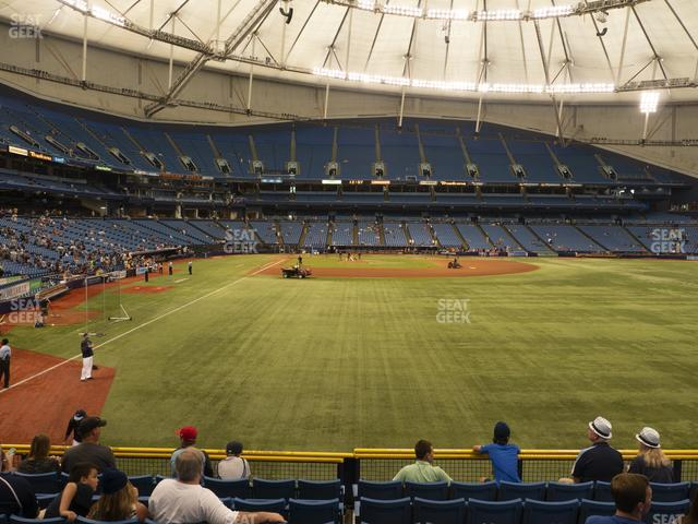 Tropicana Field Section 142 view