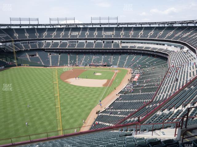 Globe Life Park Section 308 view