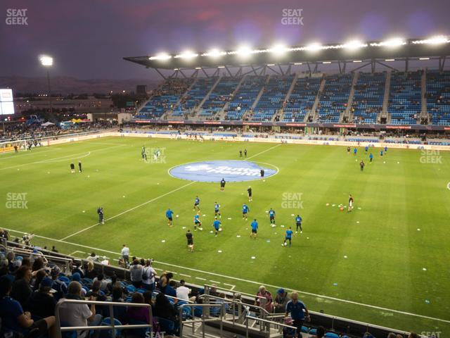 Earthquakes Stadium Section 109 view