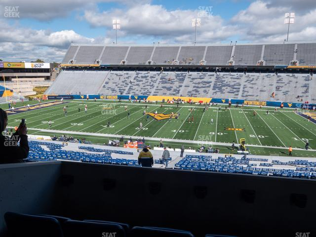 Mountaineer Field at Milan Puskar Stadium Field Box 62 view