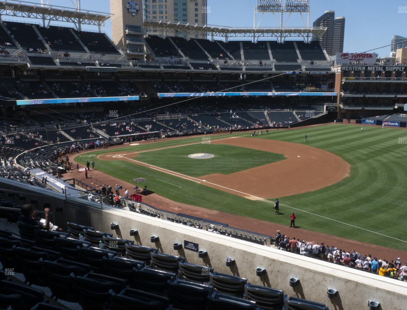 San Diego Padres at Petco Park Section 215 View