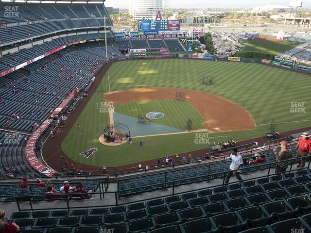 Angel Stadium of Anaheim Section 525 view