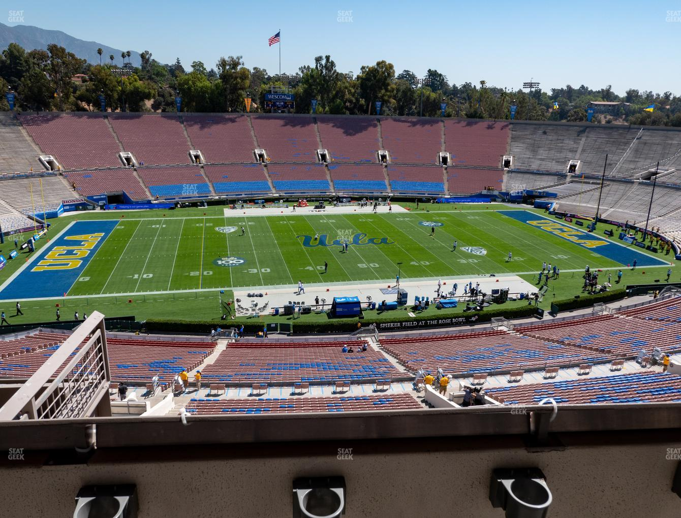 UCLA Bruins Football at Rose Bowl Section Club 208 View