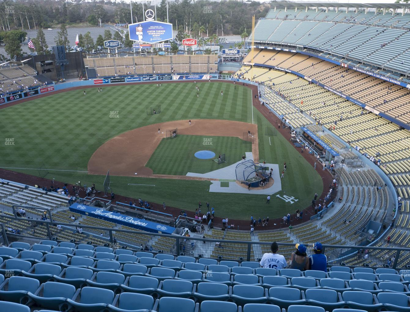 Los Angeles Dodgers at Dodger Stadium Section Top Deck 11 View
