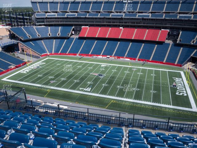 Gillette Stadium Section 329 view