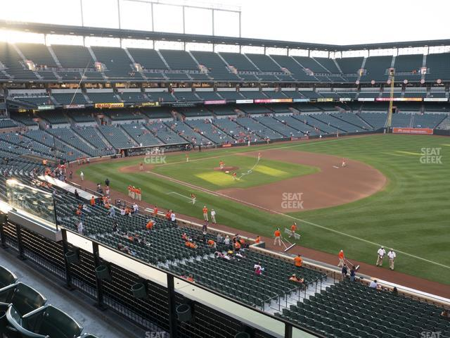 Oriole Park at Camden Yards Section 212 view