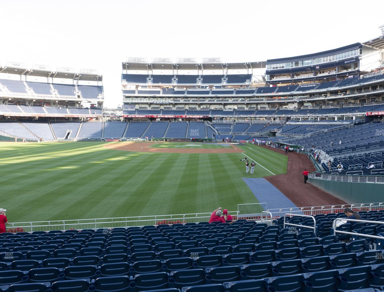 Washington Nationals at Nationals Park Section 105 View
