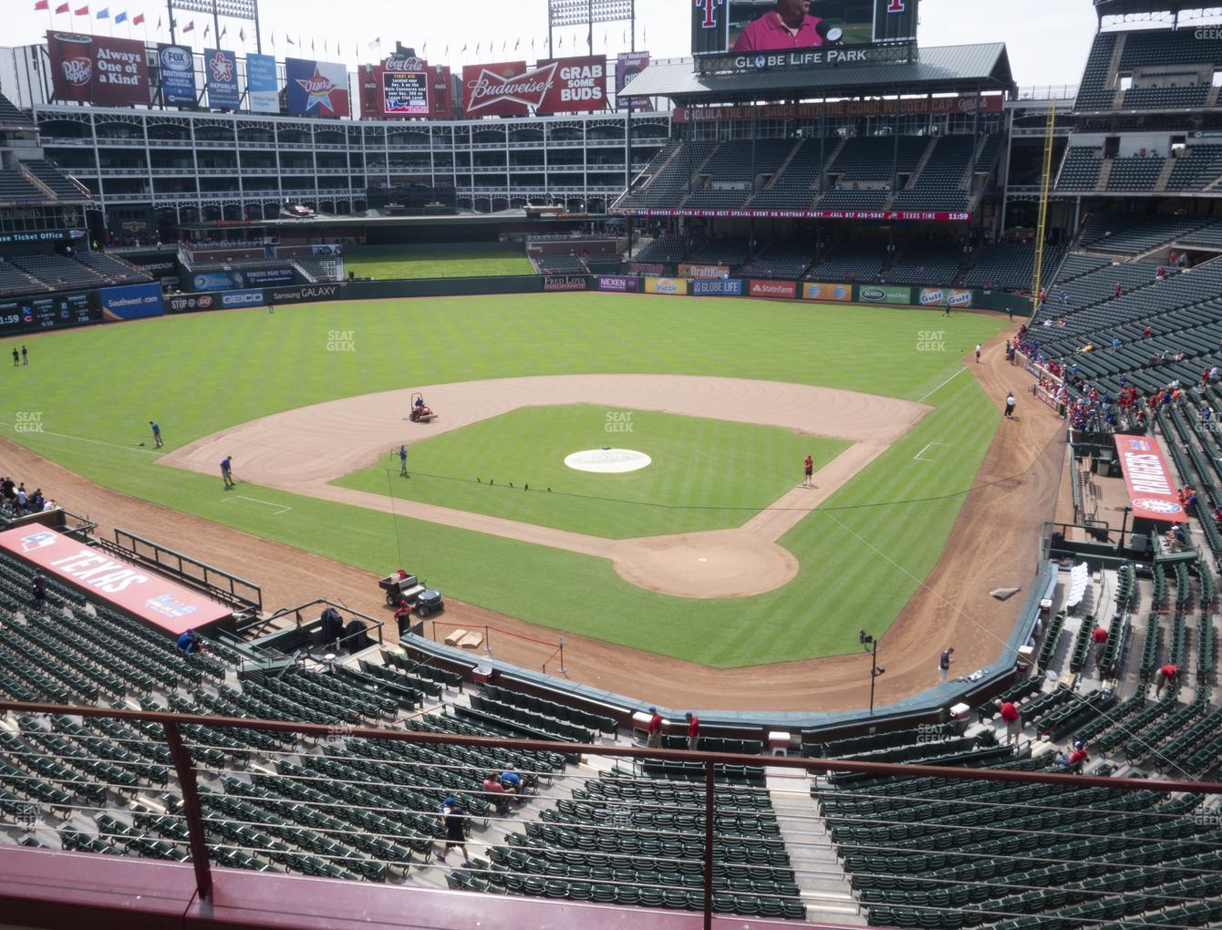 Texas Rangers at Globe Life Park Section 224 View