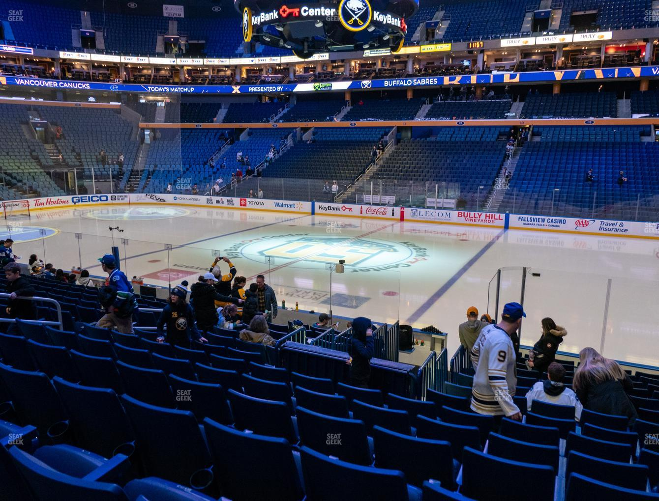 Buffalo Sabres at KeyBank Center Section 104 View
