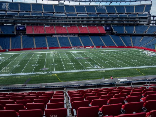 Gillette Stadium Section Club 11 view