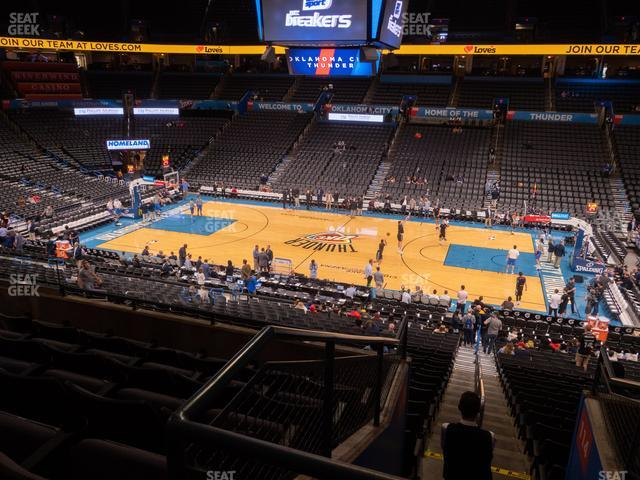 Chesapeake Energy Arena Section 222 view